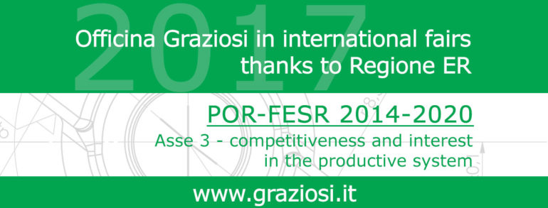 Officina Graziosi in the International Fairs thanks to Regione ER